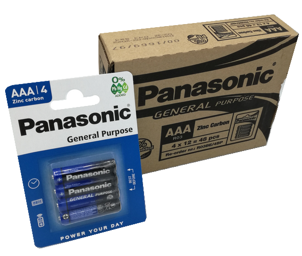| AAA Panasonic batterijen set van 12